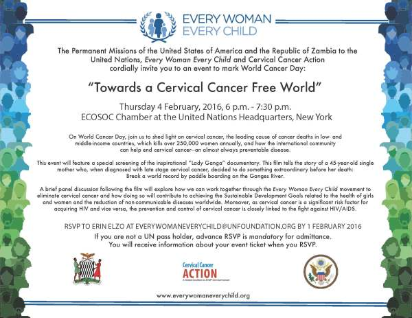 World Cancer Day event invite